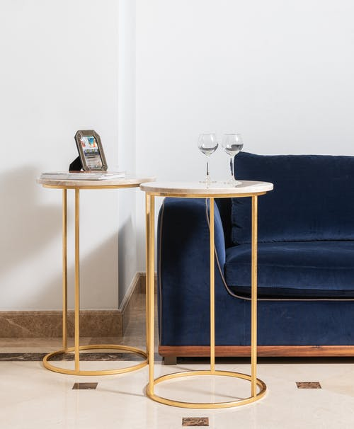 Immagine gratuita di appartamento, arredamento, azzurro, bicchiere di vino
