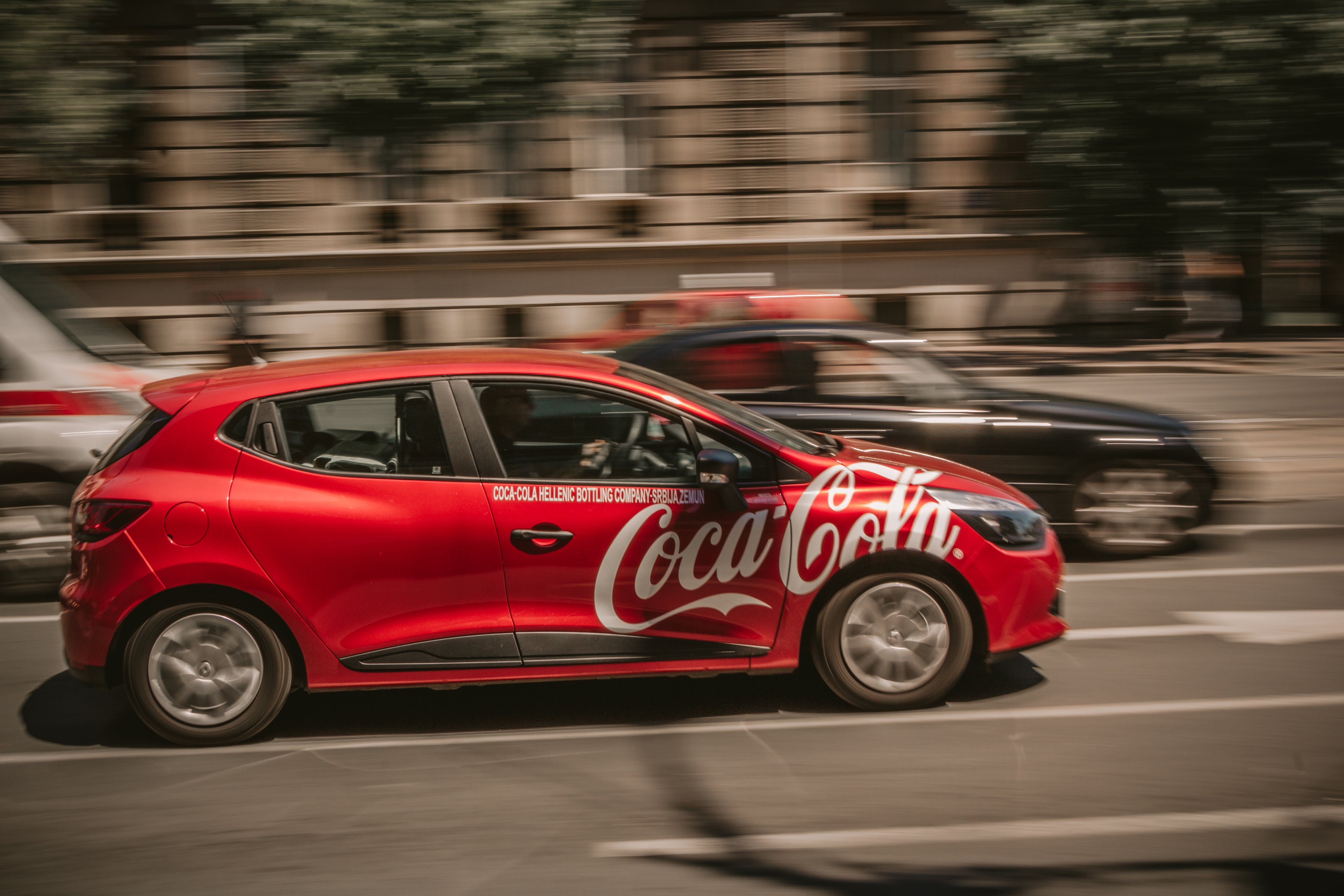Free stock photo of car, coca cola, paning
