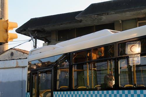 Free stock photo of beautiful, blonde, bus