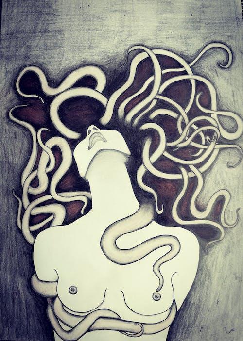 Foto d'estoc gratuïta de dibuix, dona, mama, obra d'art