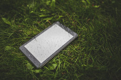 Tablet on the grass