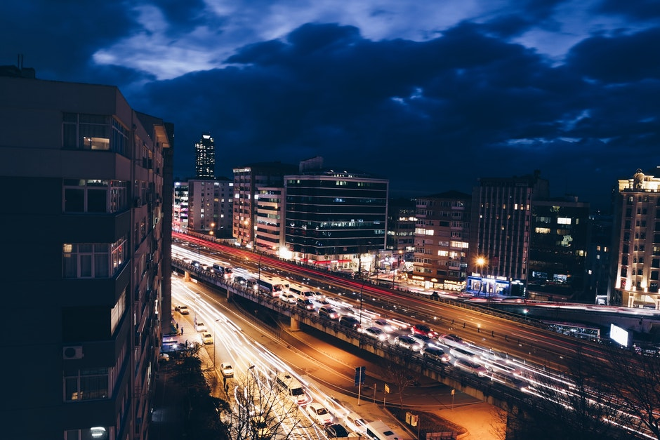 City View With Car Time Lapsed