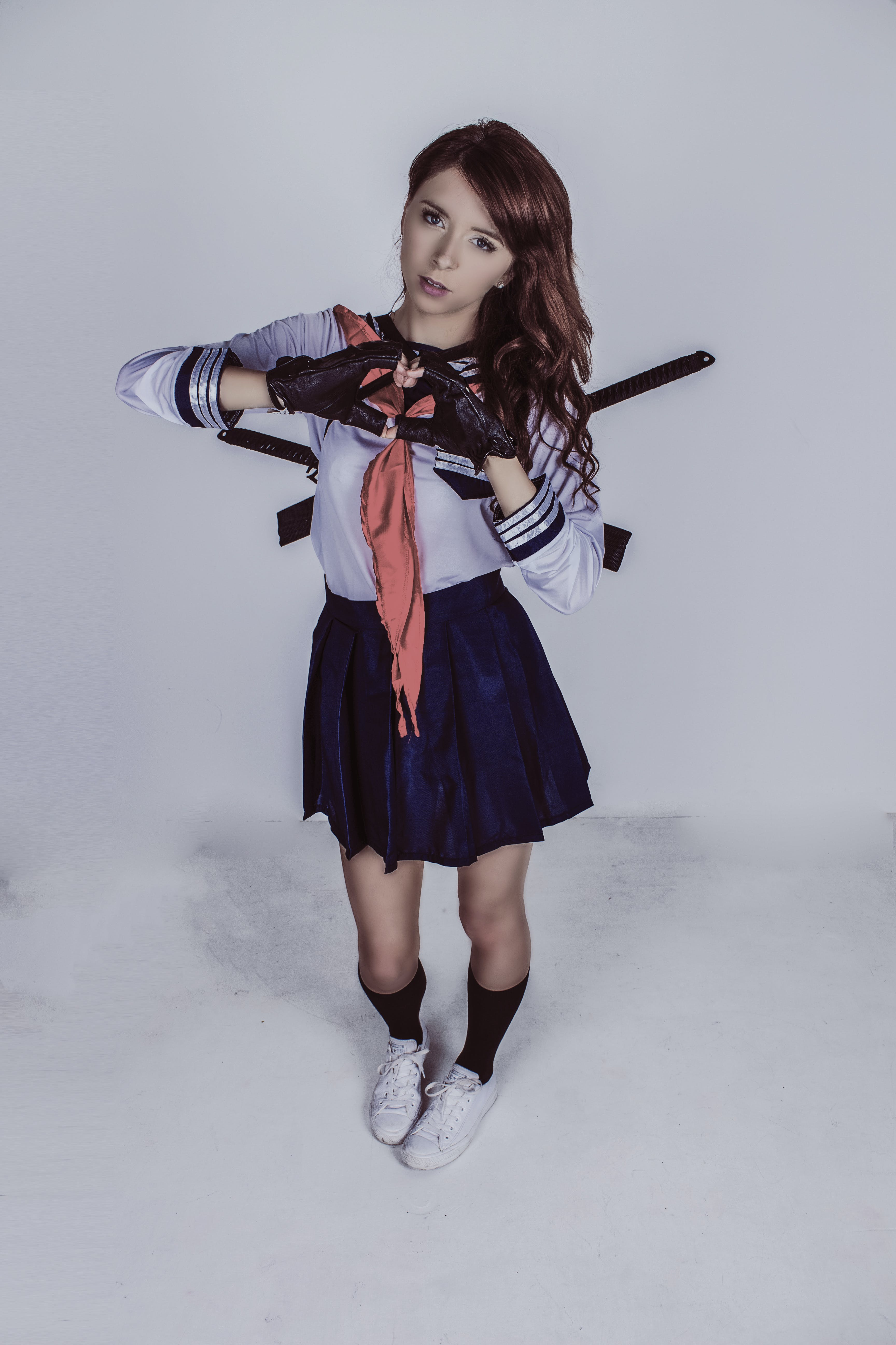 Free stock photo of cosplay, girl, school girl uniform, standing