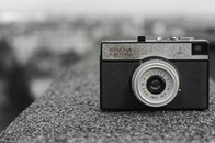 black-and-white, camera, vintage