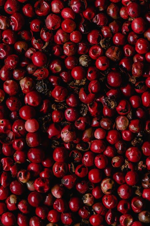 Red Cherries on White Ceramic Bowl