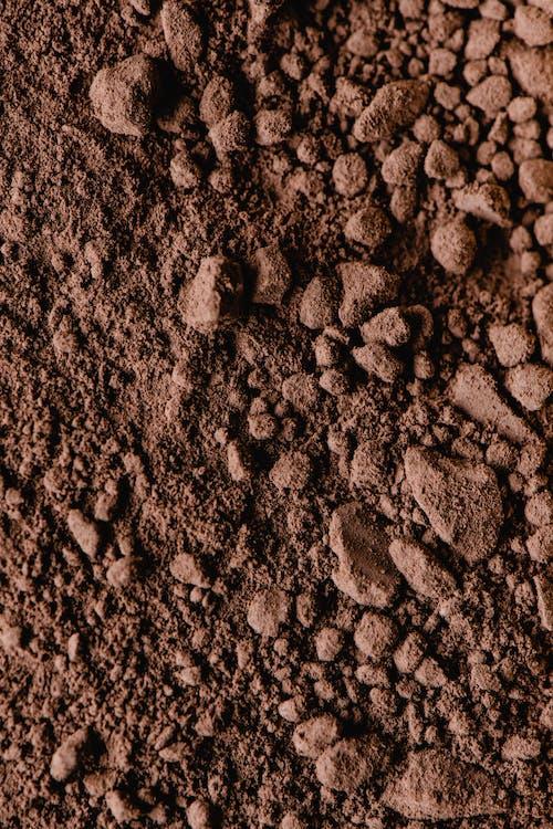 棕色和黑色的石頭,在關閉了攝影