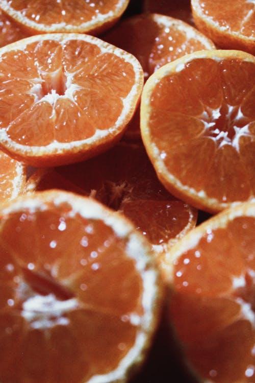 Sliced Orange Fruits in Close Up