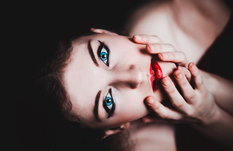 beautiful, female, make-up