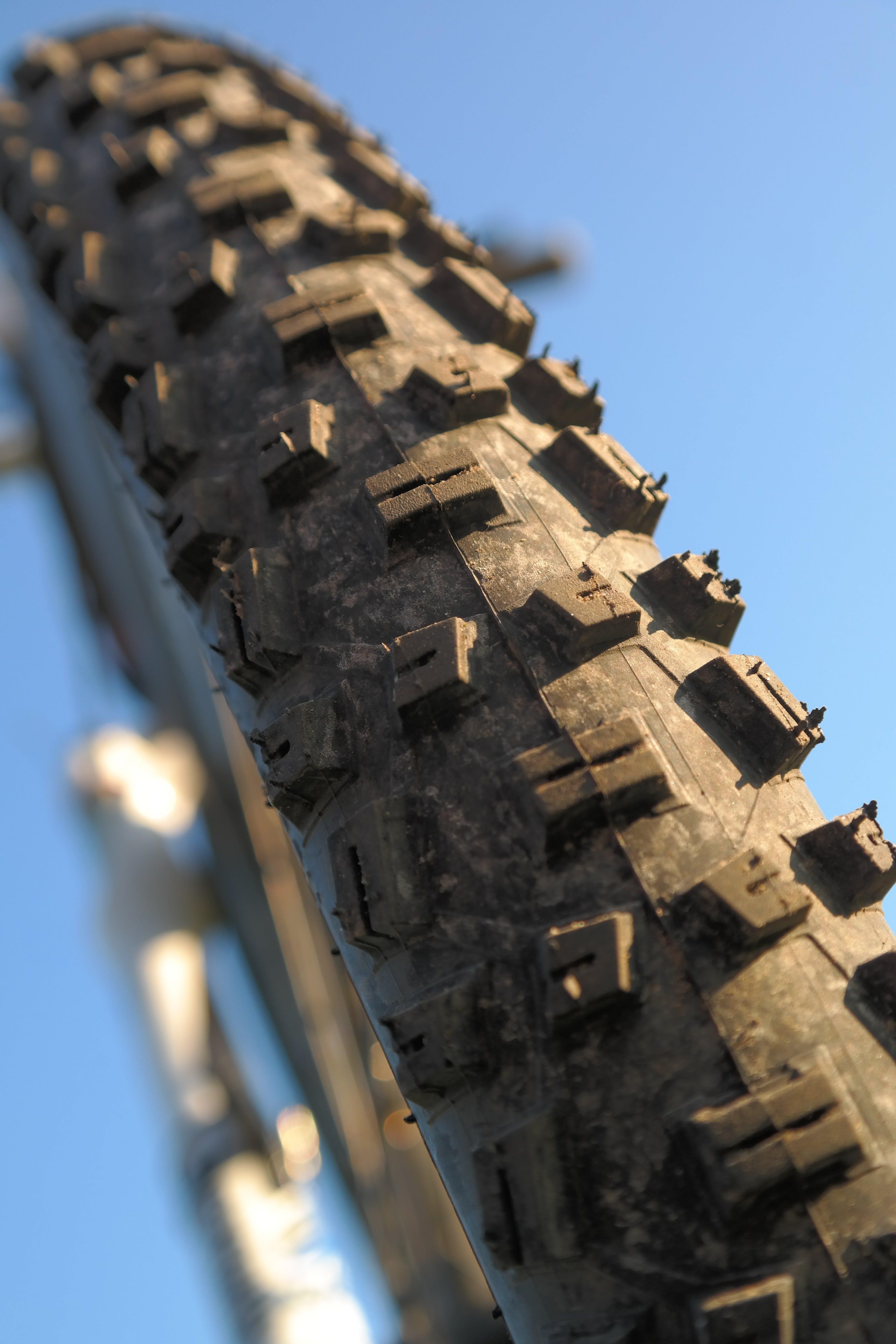 Macro Photography of Bicycle Tire