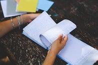 hands, notebook, notes