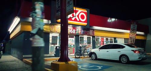 Free stock photo of bright light, car, city at night