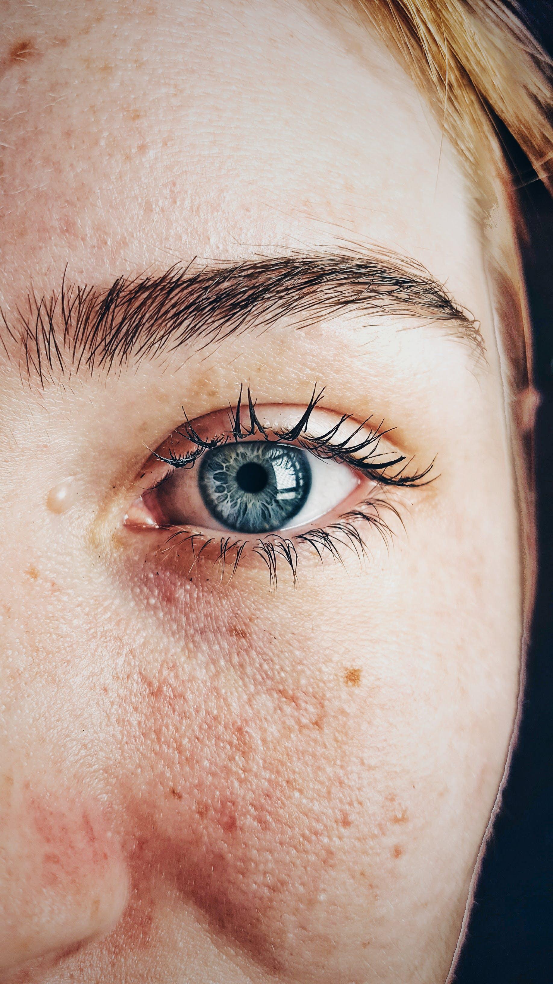 beautiful, blue eyes, close-up
