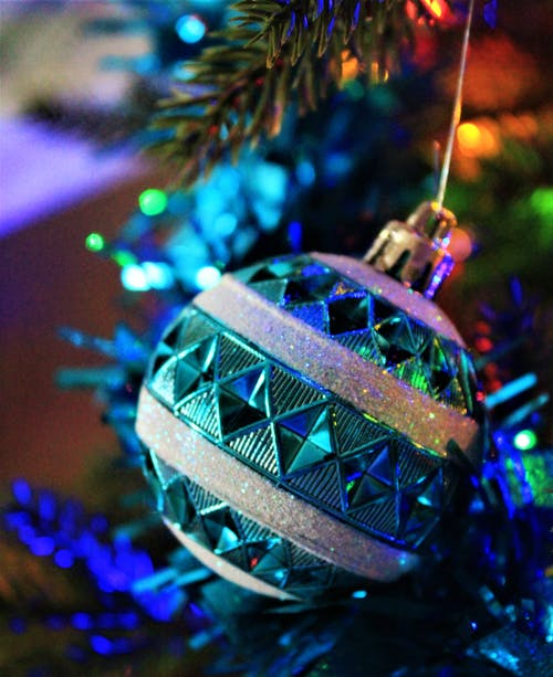 Green and Blue Christmas Tree Ornament