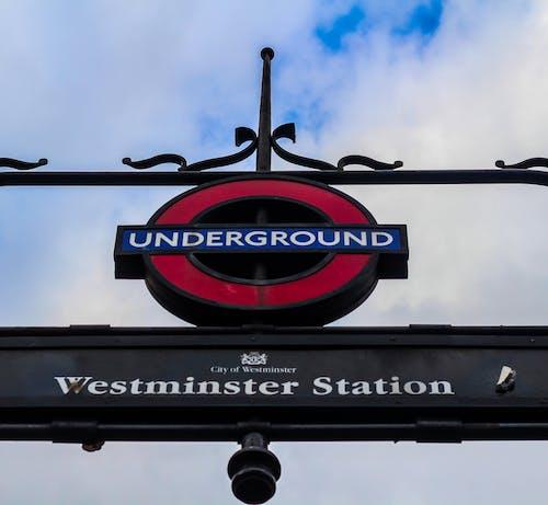 伦敦地铁, 倫敦, 倫敦眼, 地下 的 免费素材照片