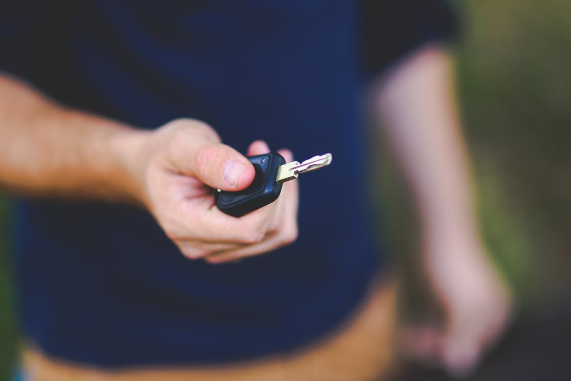 Car key in hand