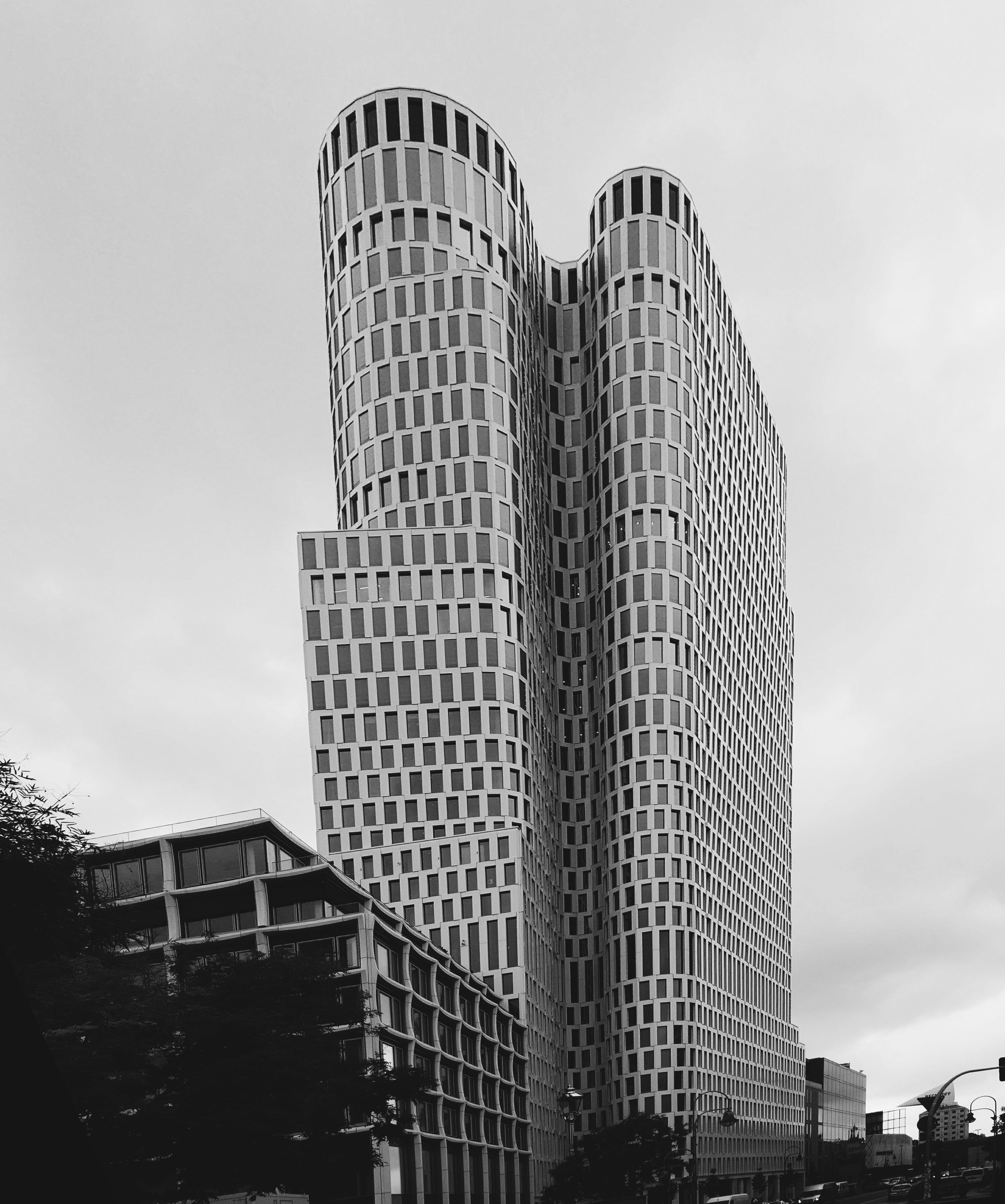 High-rise Building Grayscale Photography