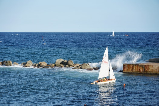 Free stock photo of sea, landscape, sky, beach