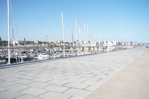 Free stock photo of architecture, beach, boat, city