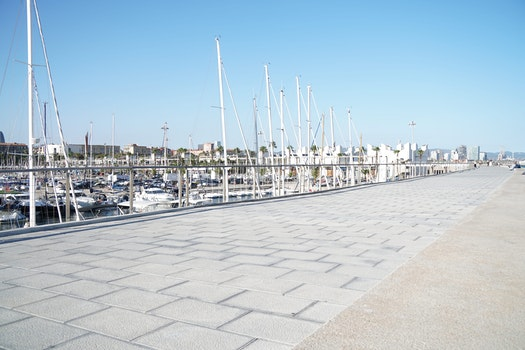 Free stock photo of sea, city, sky, beach