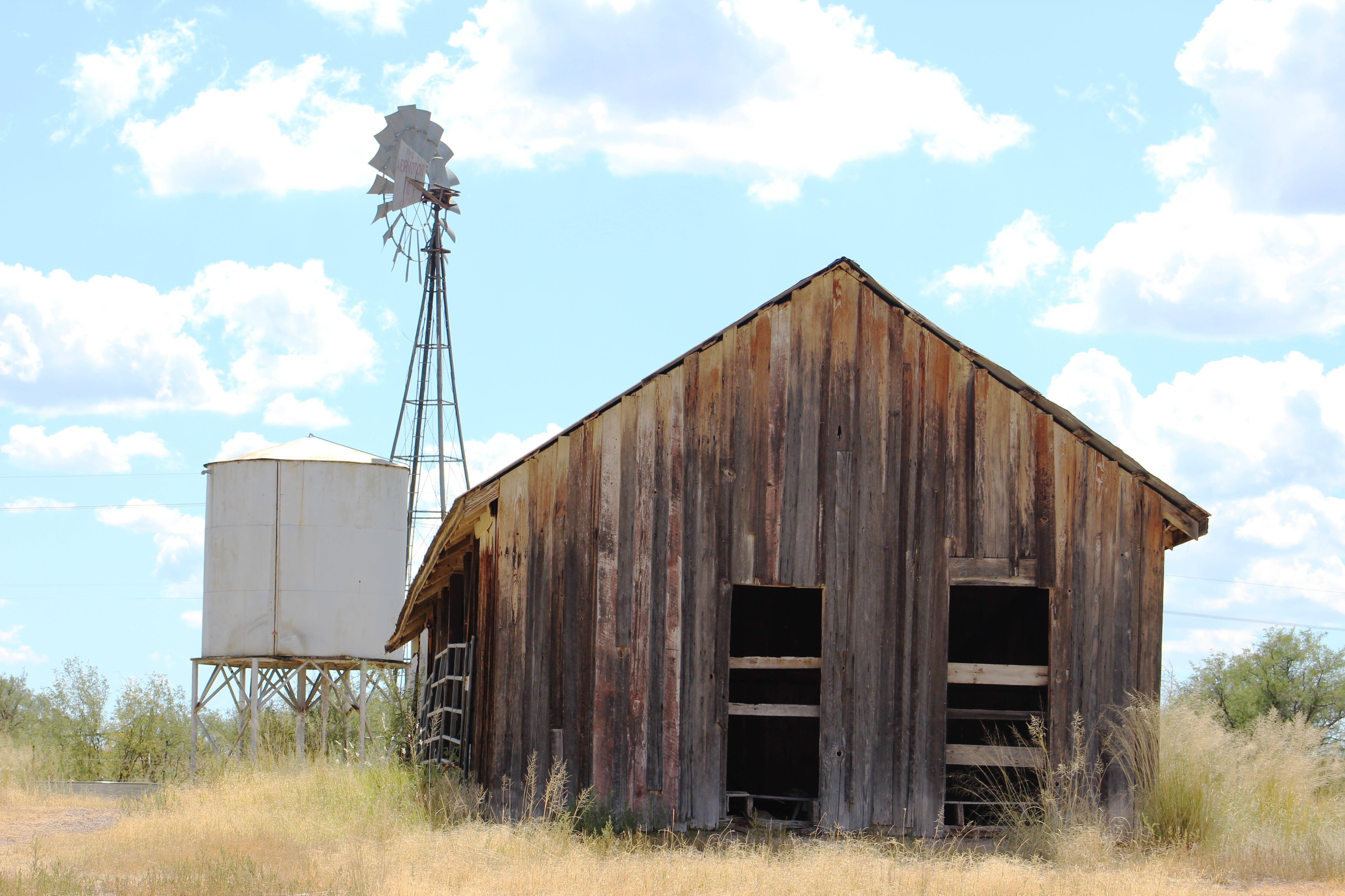 Free stock photo of barn, water tower, windmill