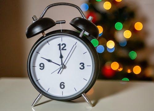 Close-Up Shot of an Analog Alarm Clock