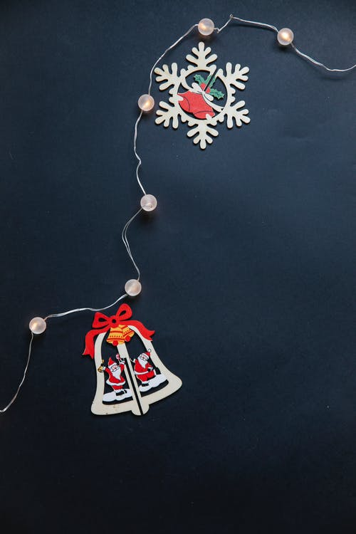 Pieces of hanging garland for Christmas holiday