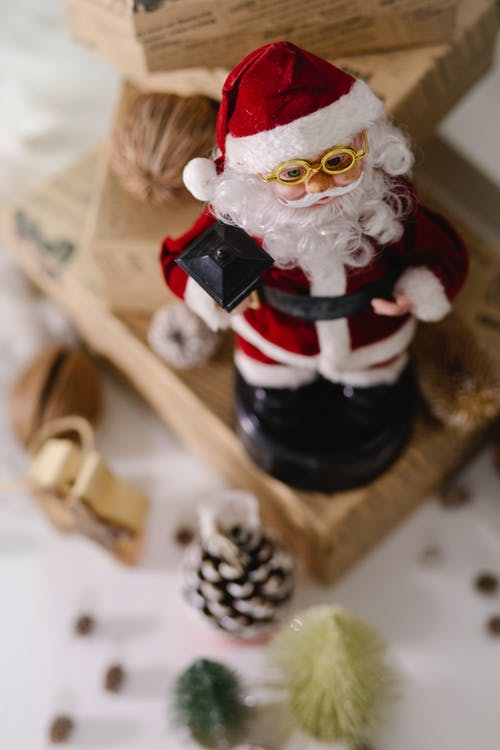 Santa Claus toy with present boxes