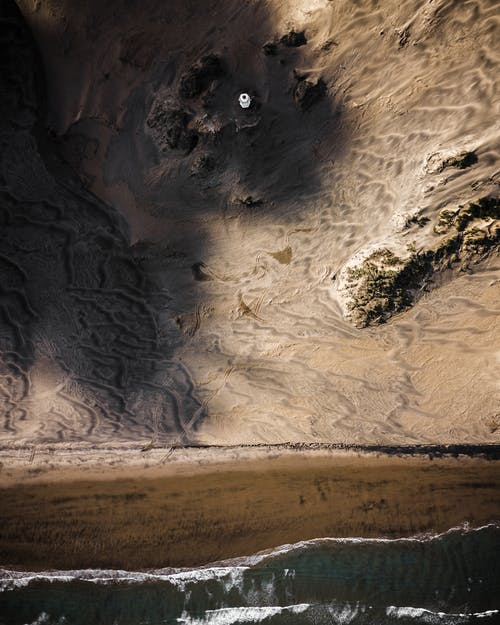 Δωρεάν στοκ φωτογραφιών με drone, rock, ακτή