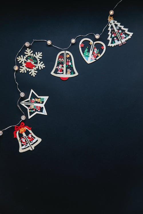 Têxtil Preto, Branco, Vermelho, Azul, Coração E Estrela