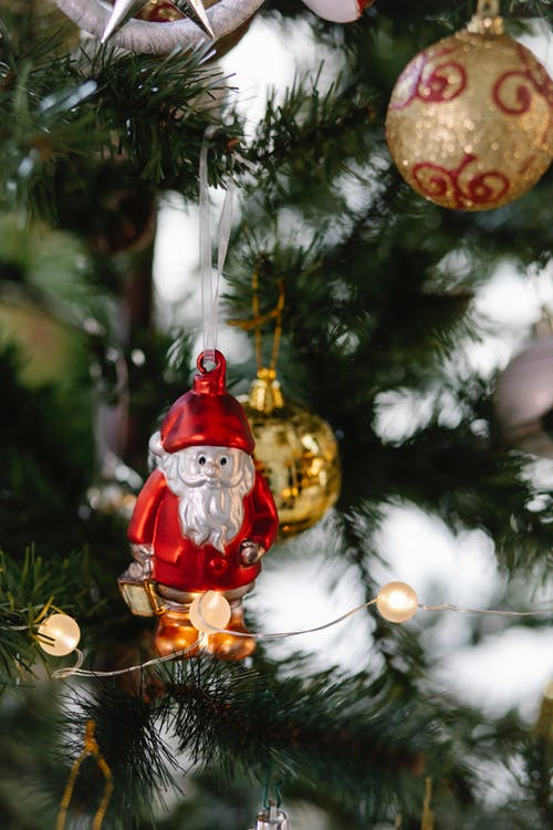 Bauble Ouro E Vermelho De Natal