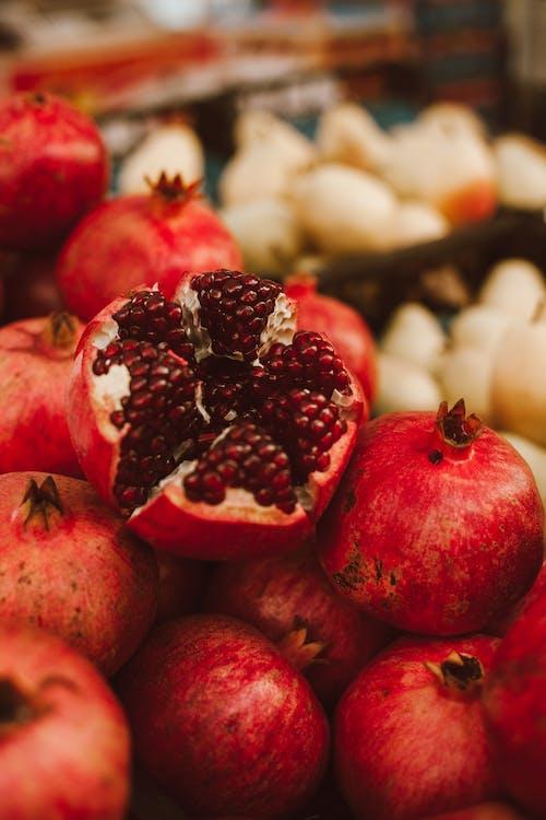 Close-Up Shot of Pomegranates