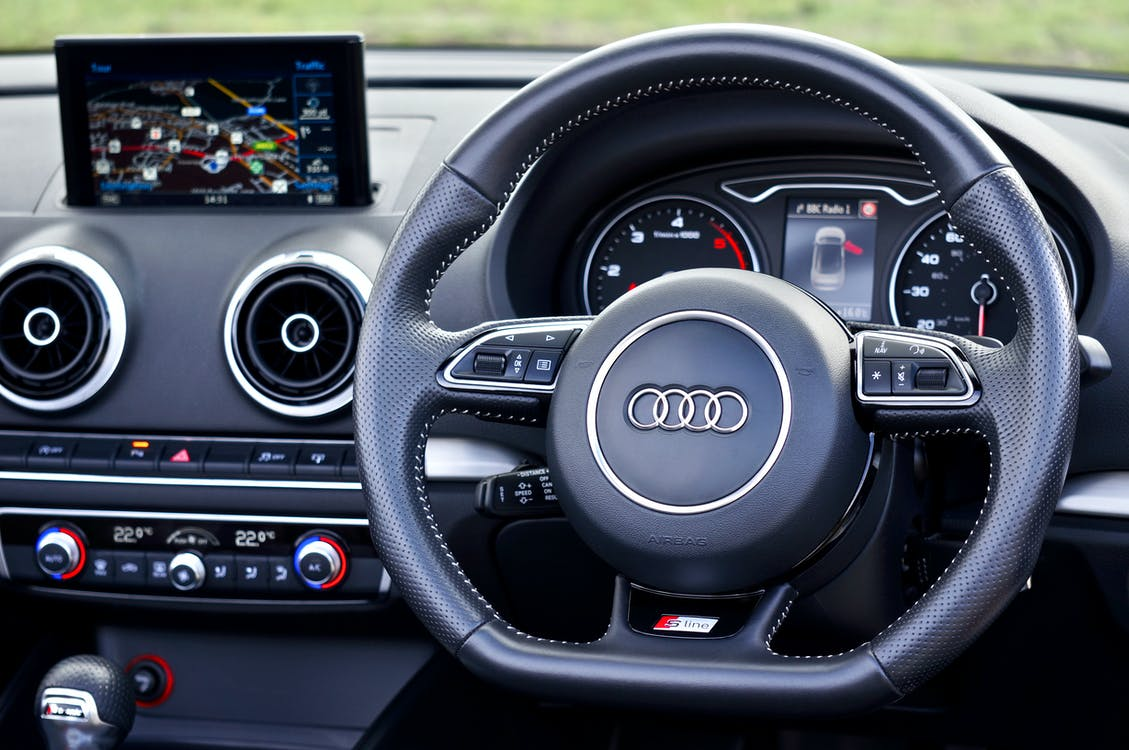 Free stock photo of audi, car interior, controls