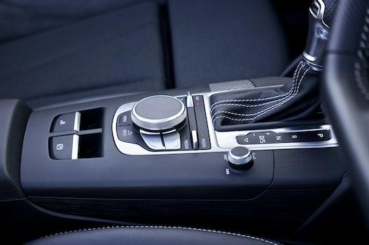 Free stock photo of controls, audi, car interior, gear shift