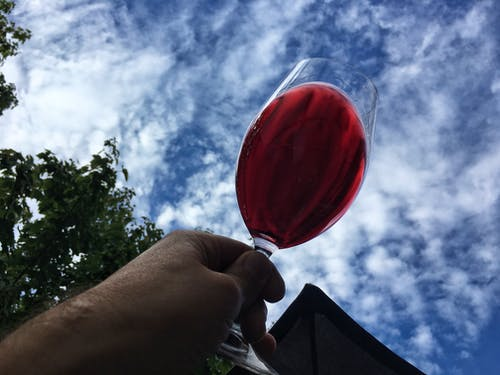 Free stock photo of cloudy sky, red wine, toast