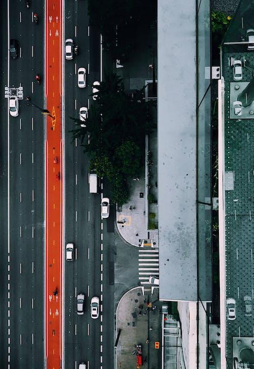 城市街道鳥瞰圖
