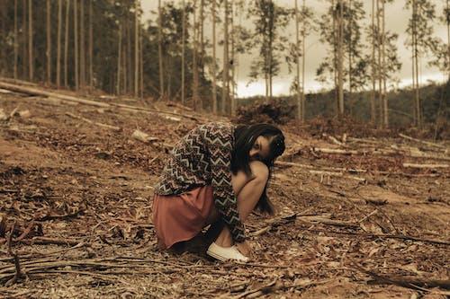 傷心的女孩, 兒童, 原本, 土 的 免費圖庫相片