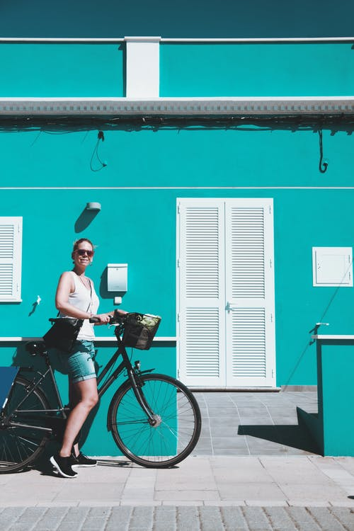 Free stock photo of architect, architecture, bicycle, blue