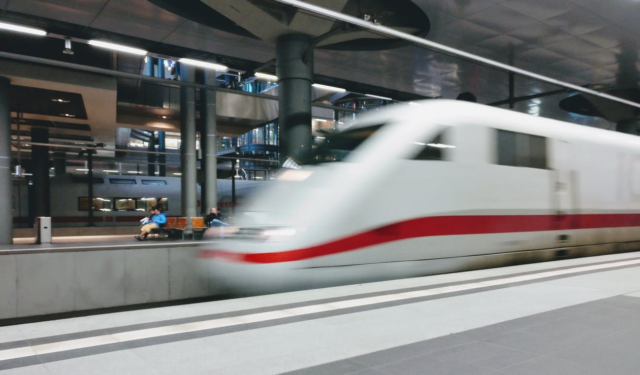 Selective Focus Photography of Train
