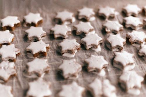 Immagine gratuita di a forma di stella, biscotti, biscotti ricoperti