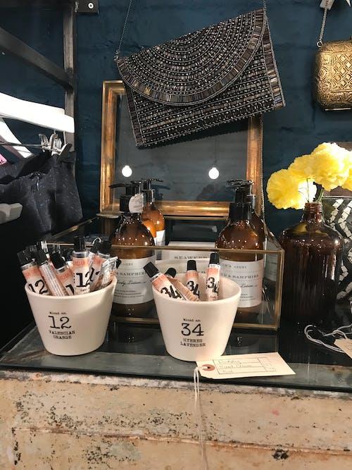 Free stock photo of beauty, cosmetics, dressing table, handbag