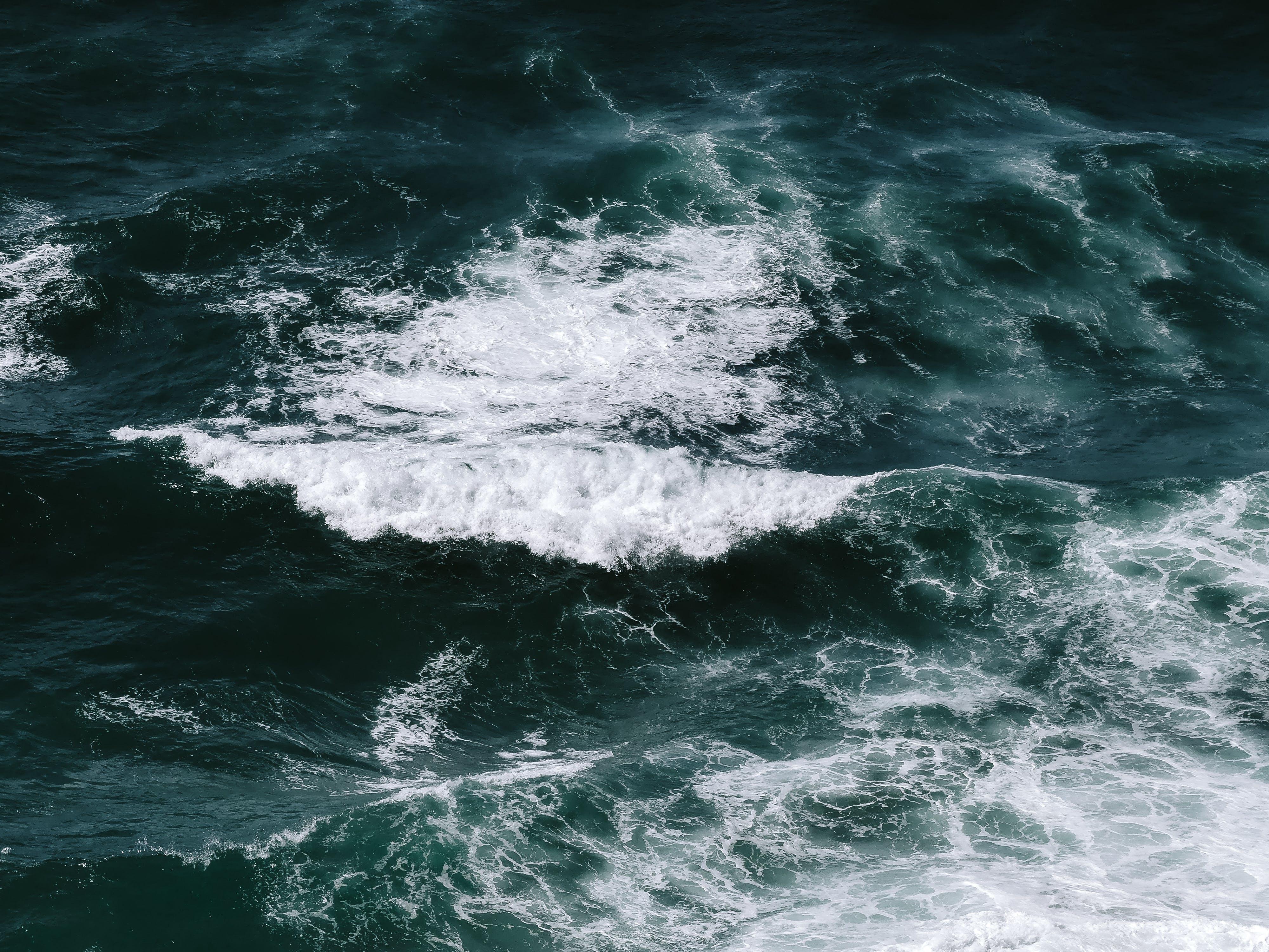 Gratis stockfoto met crashende golf, gebied met water, golven, groen