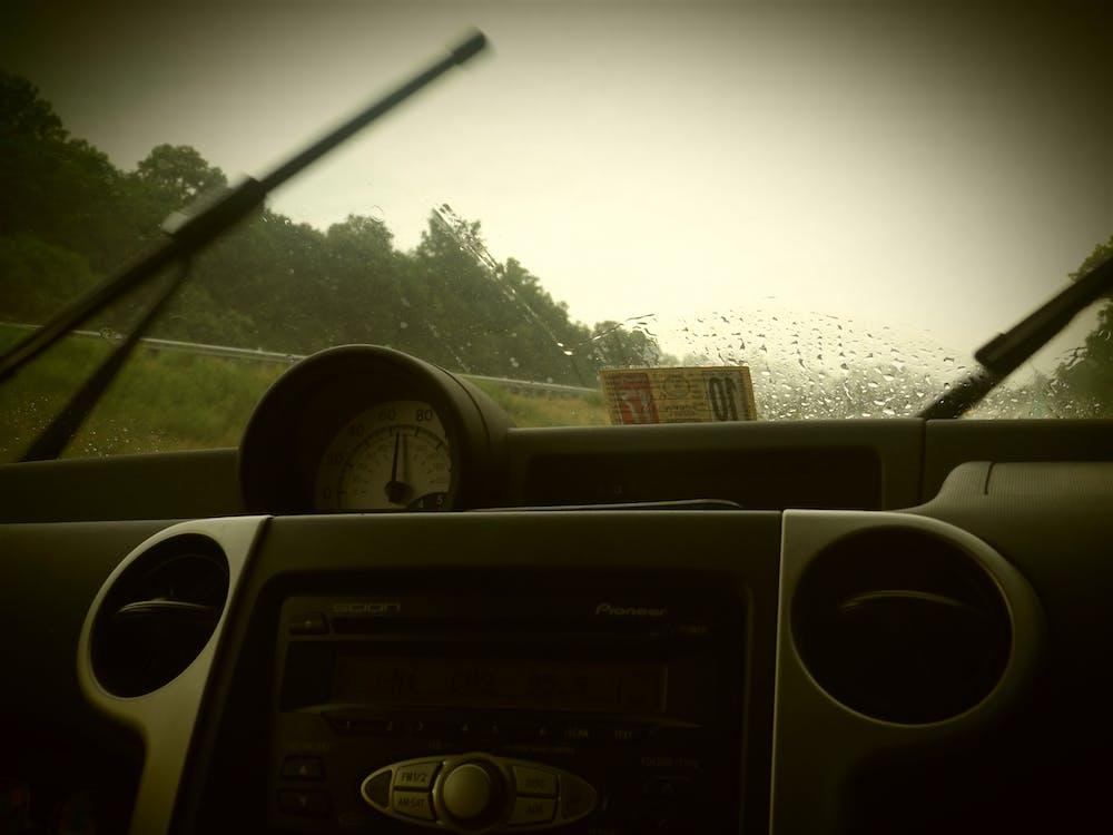 Free stock photo of car, rain, windshield