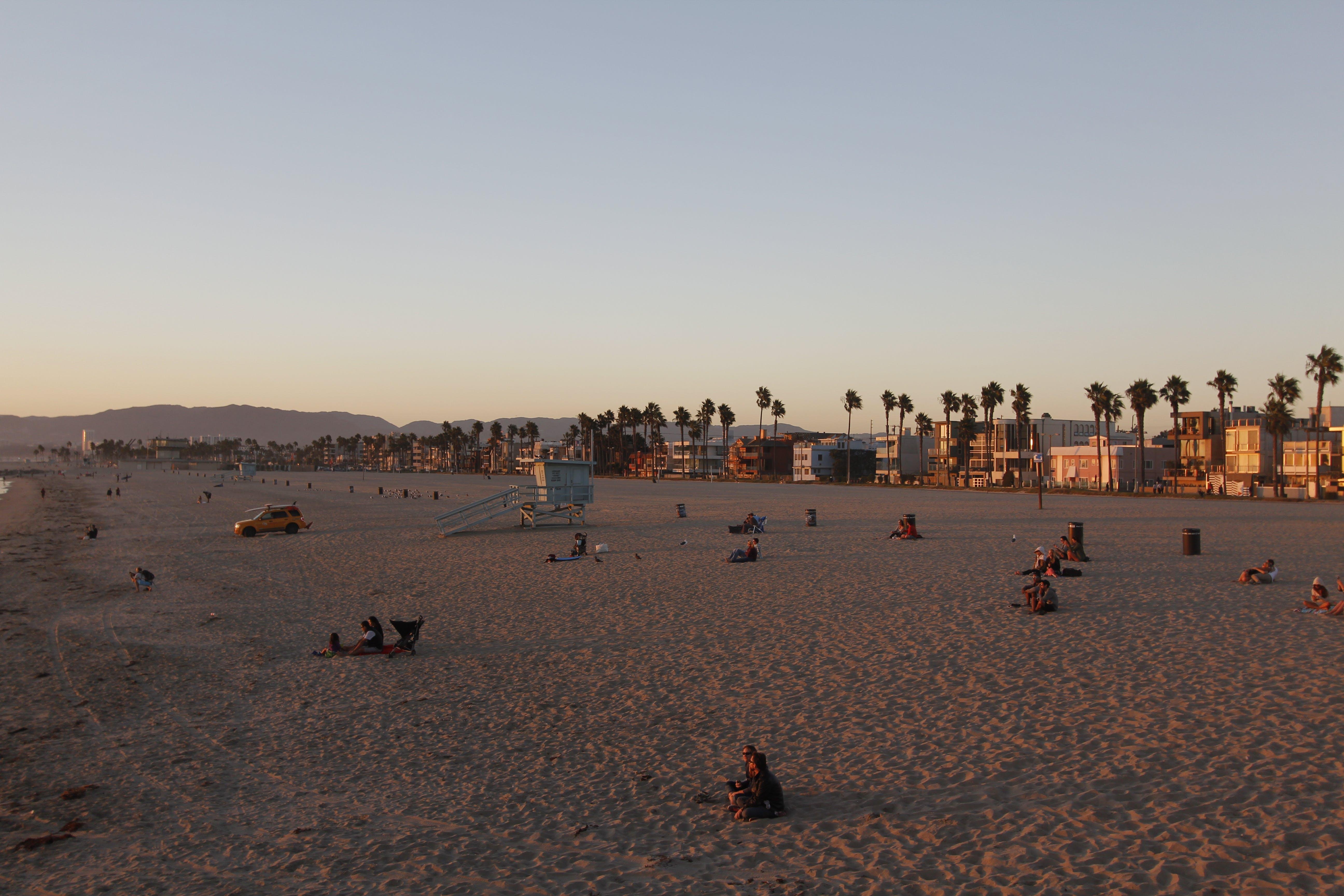 Kostenloses Stock Foto zu los angeles, paar, sonnenuntergang, strand