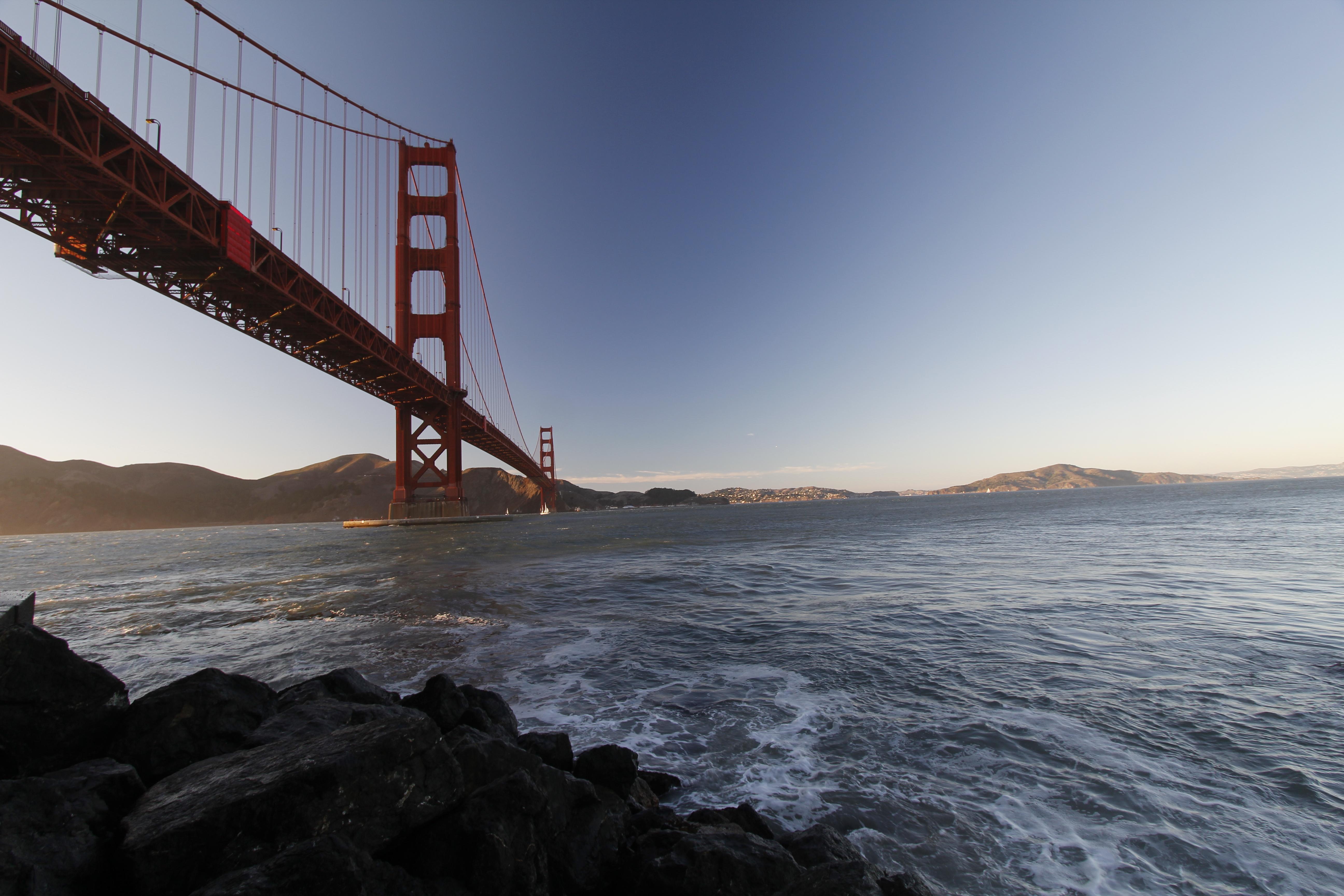 Golden Gate Bridge over Water