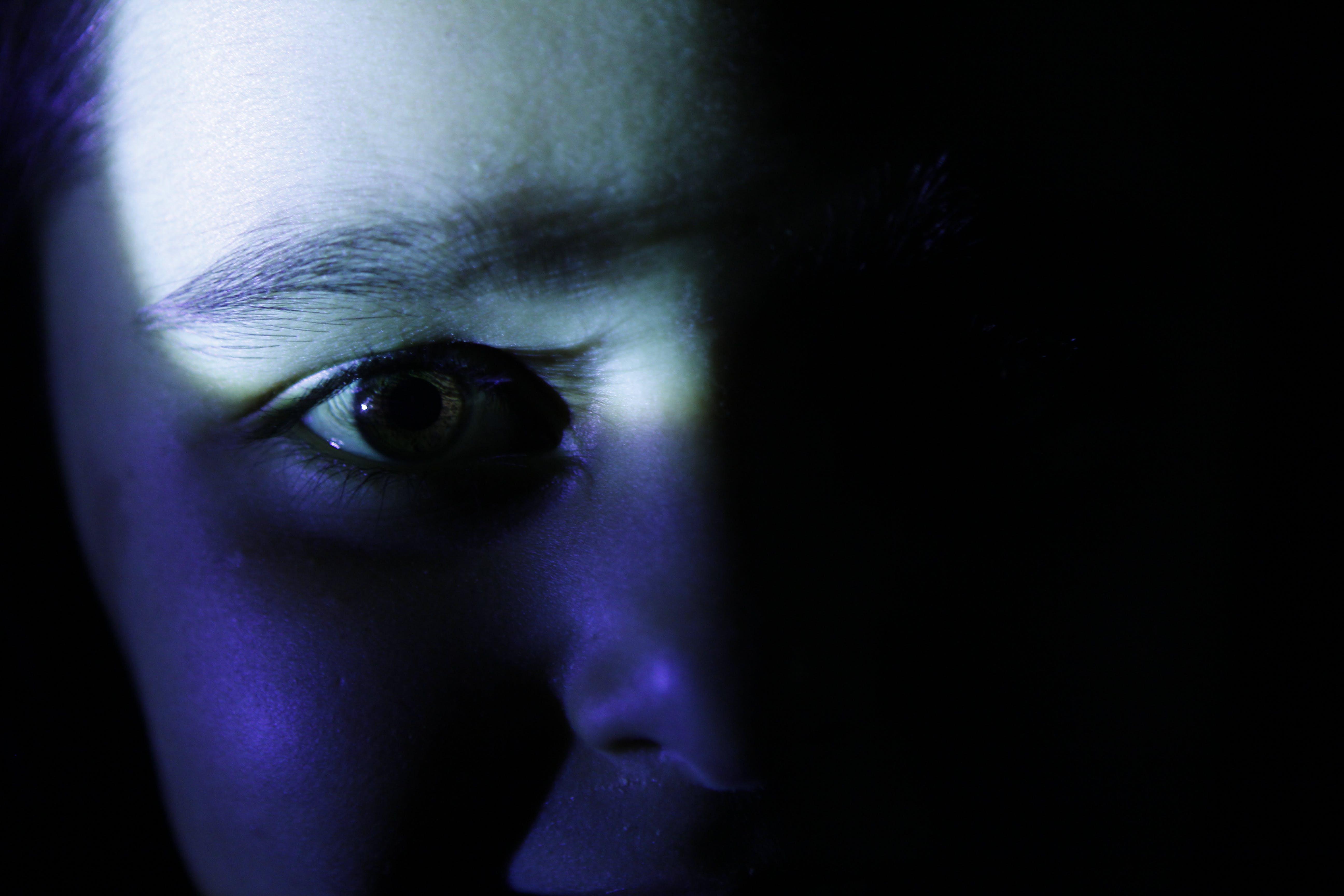 Free stock photo of eye, girl, light