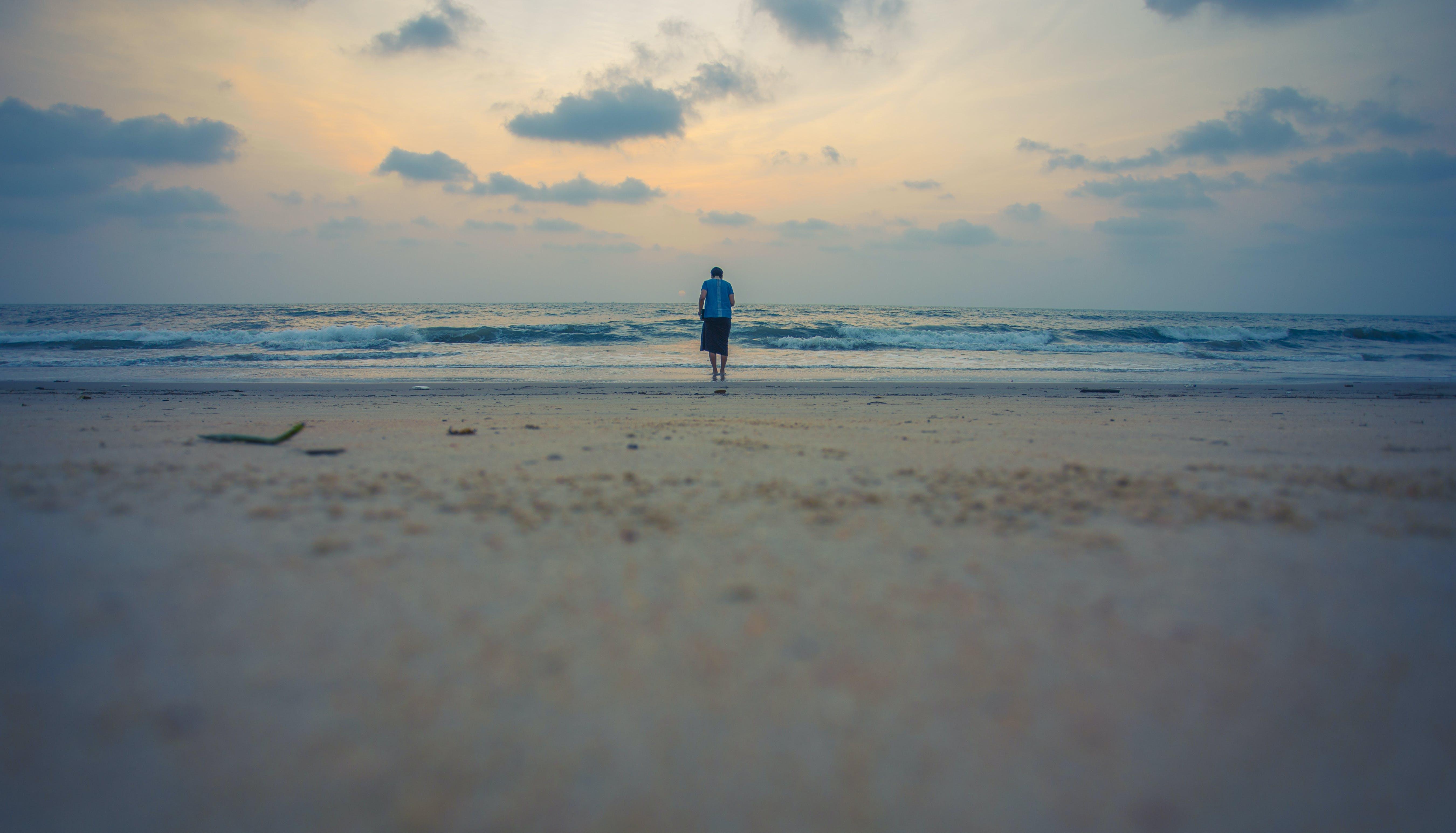 Free stock photo of beach, blue, girl, goa
