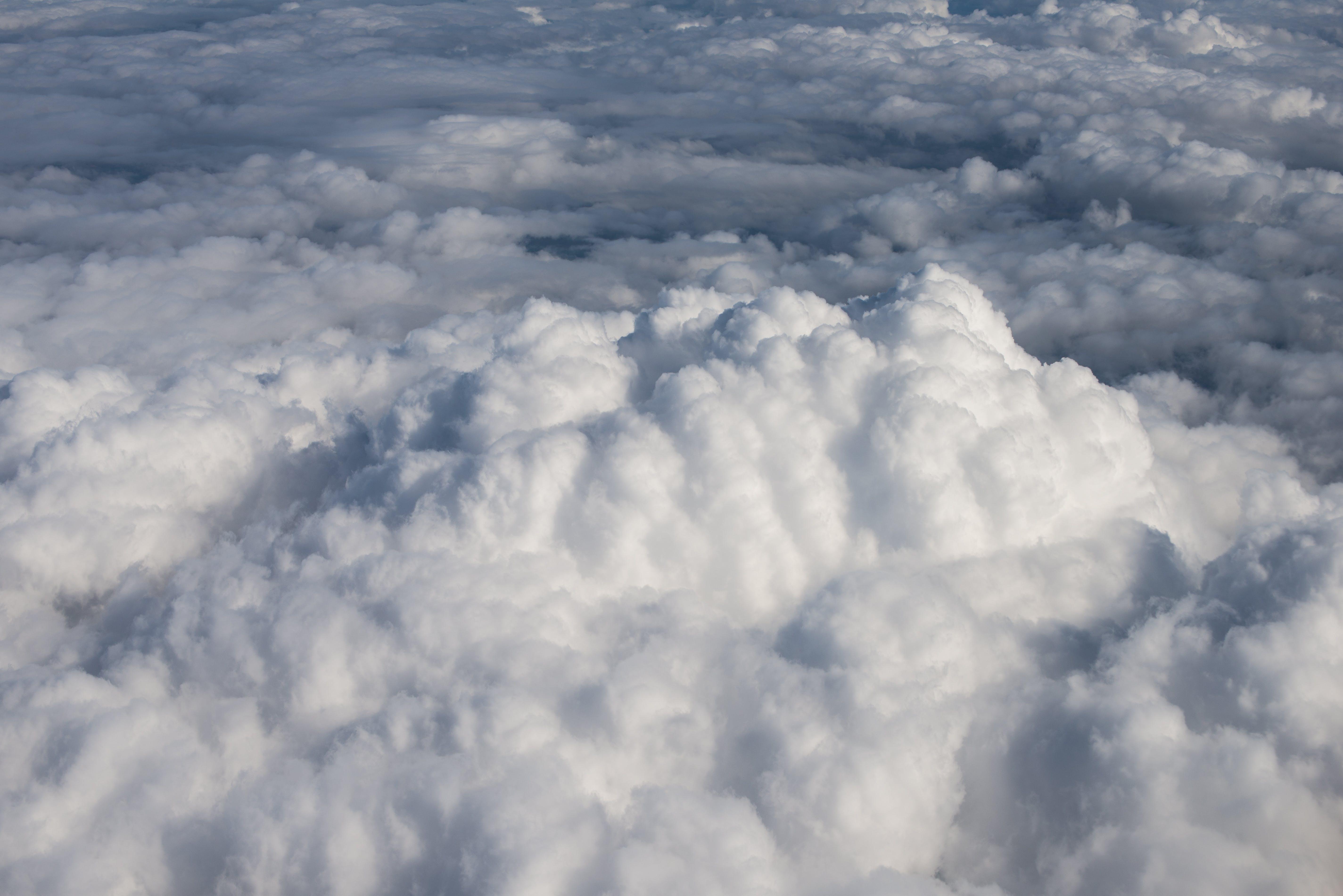 Free stock photo of air, cloud, flight, fluffy