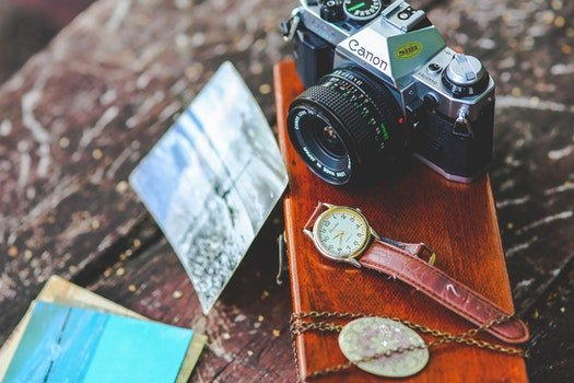 Old camera & watch