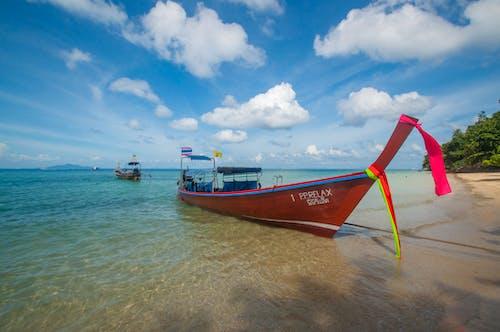 Immagine gratuita di acqua, arrivo, azzurro, barca