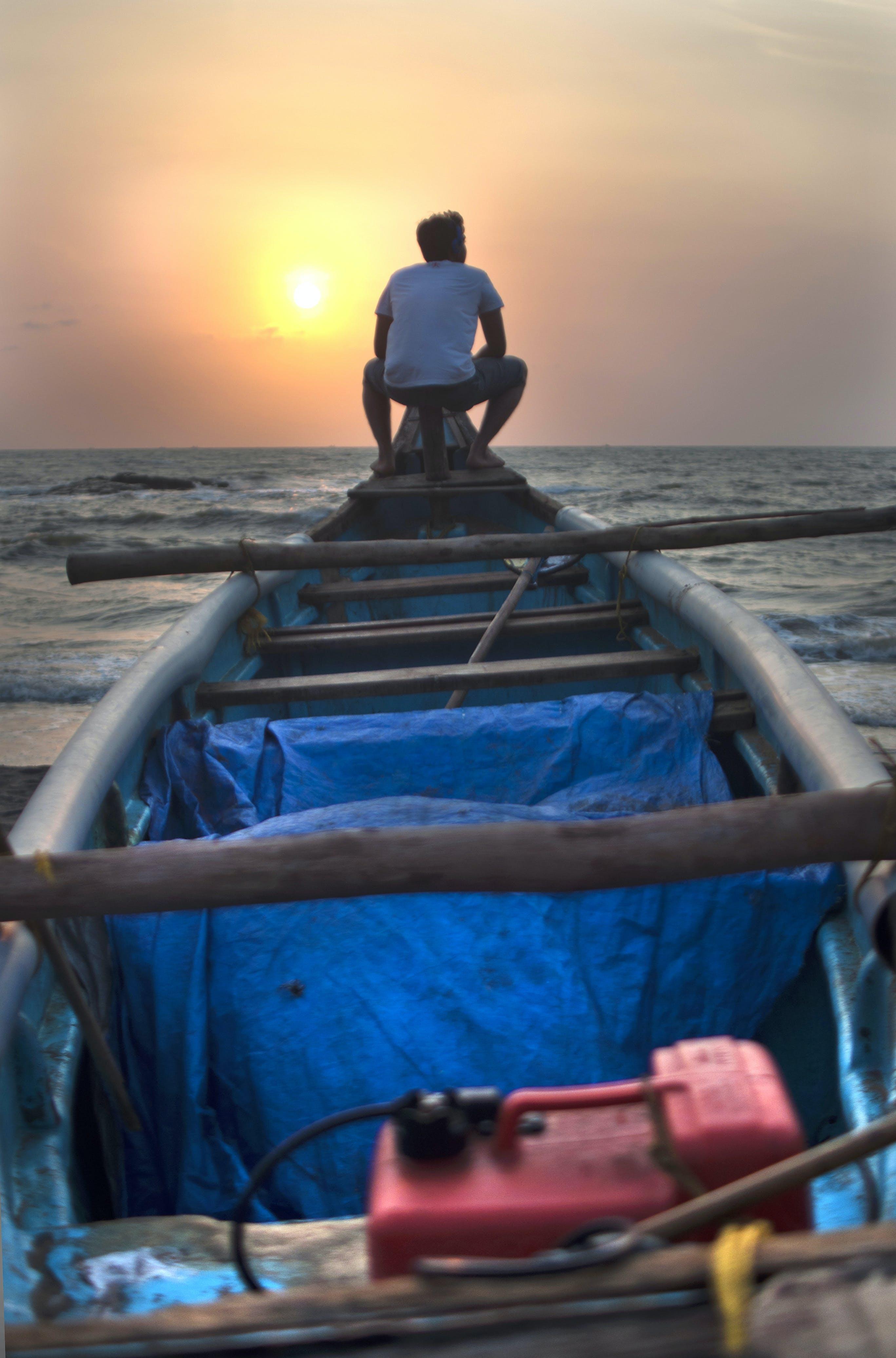 Free stock photo of beach, boat, fisherman, fishing